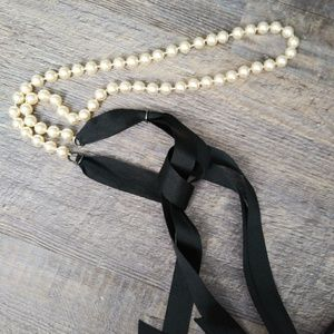 Accessories - PEARL and ribbon belt